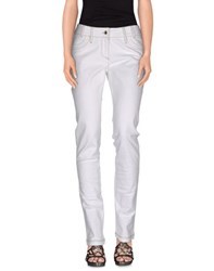 Guess By Marciano Denim Denim Trousers Women White
