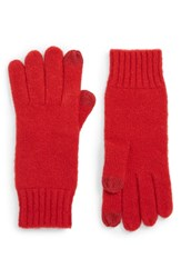 Nordstrom Knit Tech Gloves Red