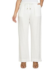 Chaus Electric Sunset Linen Pants White