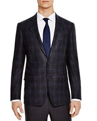 The Men's Store At Bloomingdale's Charcoal Blue Windowpane Slim Fit Sport Coat