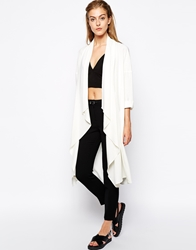 Mango Duster Coat Cream