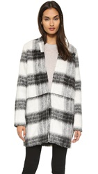 Just Female Wool Jacket Black White Check