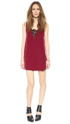 Bb Dakota Gracyn Lace Inset Dress Dark Rose