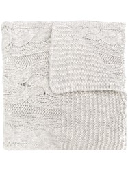 Woolrich Cable Knit Scarf Grey