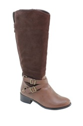 Summer Rio Tall Crossover Buckle Boot Brown