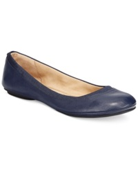 Bandolino Edition Ballet Flats Navy Leather