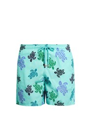 Vilebrequin Moorea Turtles Print Swim Shorts Blue Multi