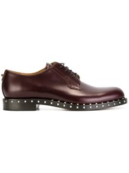 Valentino Rockstud Derby Shoes Red