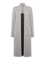 Calvin Klein Hepzi Long Sleeve Overcoat Grey
