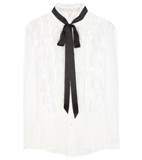 Marc Jacobs Ruffled Cotton Blouse Black