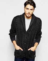 Denim And Supply Ralph Lauren Denim And Supply By Ralph Lauren Cardigan With Cable Knit Black