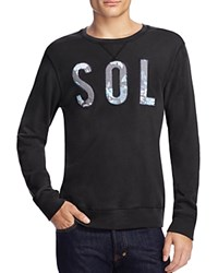 Sol Angeles Embroidered Logo Sweatshirt V Black