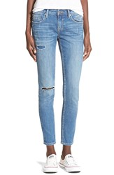 Vigoss Distressed Skinny Jeans Medium Wash
