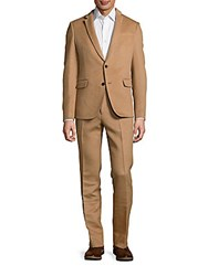 Valentino Camel Hair Blend Suit