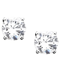 B. Brilliant Sterling Silver Cubic Zirconia Stud Earrings 1 Ct. T.W.