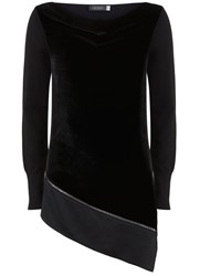 Mint Velvet Black Front Asymmetric Knit Black