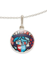 Alex And Ani Freedom Art Infusion Necklace Charm Silver