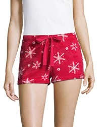 Roudelain Snowflake Shorts Red Crimson