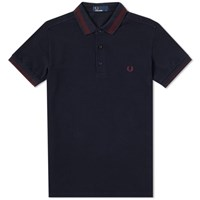 Fred Perry Contrast Tipped Polo Blue