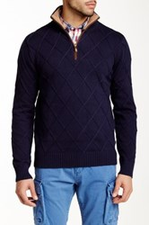 Gant P.N. Criss Cross Zip Pullover Blue