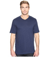 Tommy Bahama Portside Player V Neck Tee Maritime Men's Short Sleeve Pullover Blue