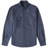 Barena Baito Double Pocket Shirt Blue