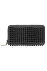 Christian Louboutin Panettone Spiked Textured Leather Wallet Black
