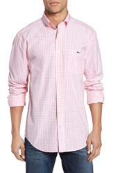 Vineyard Vines Men's Elmont Gingham Sport Shirt Hibiscus