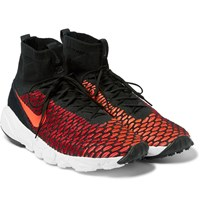 Nike Air Footscape Magista Flyknit High Top Sneakers Red