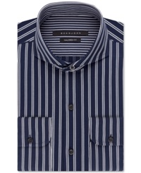 Sean John Midnight Blue Stripe Dress Shirt