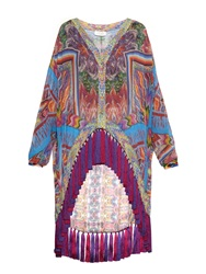 Camilla Tapestry Of Time Print Oversized Silk Shirt