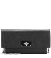 Givenchy Shark Chain Leather Shoulder Bag Black