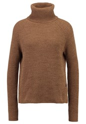 G Star Gstar Ave 3D Zip Turtle Knit L S Jumper Dark Fawn Aged Olive Camel