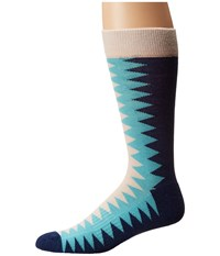 Richer Poorer Sixx Hiking Light Sock Oatmeal Blue Men's Crew Cut Socks Shoes Multi