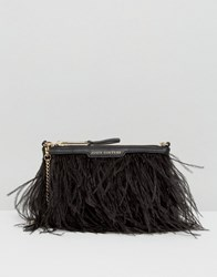 Juicy Couture Juciy Luxe Party Feather Cross Body Bag Pitch Black