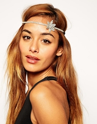 Asos Jewel Side Flower Headband Crystal