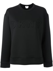 Dkny Embossed Logo Sweatshirt Black