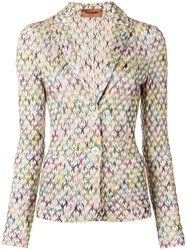 Missoni Knitted Fitted Blazer Nude And Neutrals