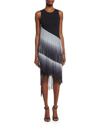 Haute Hippie The Cowgirl Ombre Fringe Dress Black