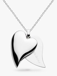Kit Heath Personalised Desire Treasured Love Affair Large Heart Pendant Necklace Silver