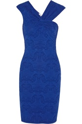 M Missoni Jacquard Knit Dress Blue
