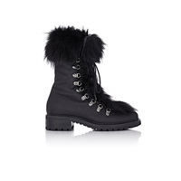 Fur Trimmed M6 Boots Black