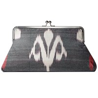 Catrinka Elnora Snap Clutch Black