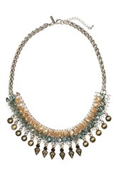 Topshop Women's Beaded Statement Necklace