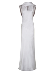 Hotsquash Long Dress With Cowl Back And Front Silver