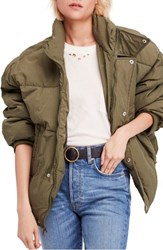 Free People Cold Rush Puffer Jacket Moss