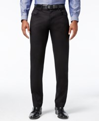 Inc International Concepts Men's Deep Black Stretch Pants Only At Macy's