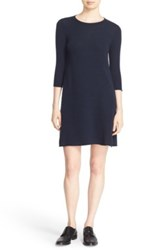 Autumn Cashmere Exposed Seam Swing Dress Blue