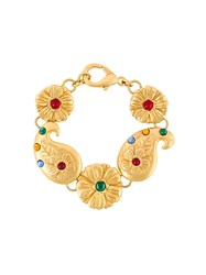 Kenzo Vintage Flower Icon Bracelet Metallic
