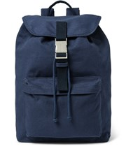 A.P.C. Cotton Canvas Backpack Navy